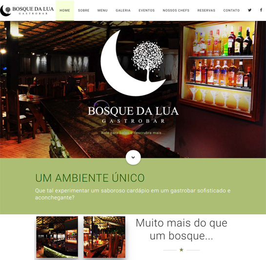 Bosque da Lua - Website
